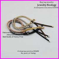 free shipping ! Mixed 12pcs/lot 4colors Fashion Michae Bracelet Pu Leather Bracelet metal beads for women jewelry bracelet