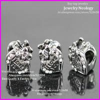 New arrival! Wholesale big hole rhinestone pantera beads, cameo i love you new design charm jewelry beads