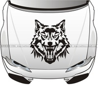 UNIVERSAL CUSTOMIZED car styling Wolf Car Stickers Hood Head Body Sticker Flame Garland Decal Docer Waterproof Mural Vinyl DAYF