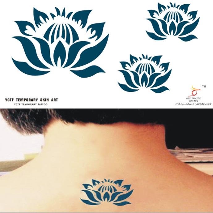 Tattoo stickers lotus flower waterproof Small pure fresh Wrist little hearts Original hand-painted(China (Mainland))