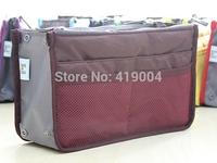 Fedex DHL Fast shipping 13 Colors Women organizer bag multi functional cosmetic storage handbag bags Insert purse,100pcs/lot