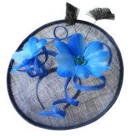 Flowers feather British Vintage Organza Sinamay hat for women summer chapeu feminino brand new ladies fedora dress church hat