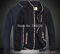 Free shipping 2014 spring, Autumn Men's winter the thin darin-collar jacket,fashion brand leisure coats jackets men M --5XL 897