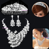 New 2014 wedding jewelry sets Phoenix necklace earrings brand bridal jewelry sets indian jewelry crown wedding tiaras 0114