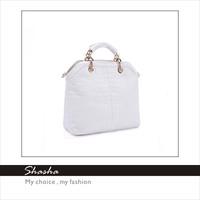 2014 women's Totes office Lady messenger bags Elegant handbags Alligator crocodile embossed leather bag white black snake