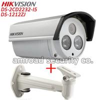 HIKVISION 3.0Mp HD PoE Outdoor Waterproof 3D DNR&DWDR EXIR Range 50M Bullet Network IP Camera DS-2CD2232-I5 + DS-1212ZJ Bracket