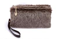 Women Zipper Vogue Wool Bag Small Buttercup Tote Bags Brand Handbag Fur Evening Day Clutches Clutch 2014 New Style