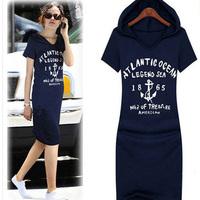 2015 Summer Fashion Plus Size Clothing Summer Casual Slim Basic Cotton Short-sleeve Dress Female Free Shipping