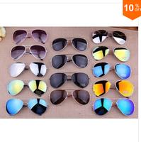 2014 Sale Brand Designer Blue Mirrored Sunglasses Men Silver Mirror Vintage Sunglasses Women Glasses Free Shipping