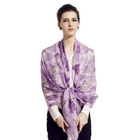 Wire mulberry silk spring and autumn scarf silk scarf silk female long design scarf cape salomon Free shipping