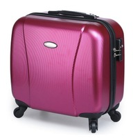 Fashion  simple Pure pc luggage commercial universal wheels trolley luggage 16 travel bag luggage