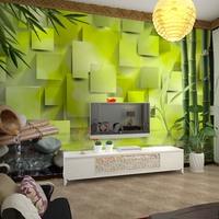 Custom bamboo wallpaper 3d, living room sofa bedroom TV background wallpaper love the 3D landscape landscapes large mural