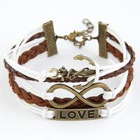 SL293  DIY letters bracelet fashion metal bracelet love letters bracelet wholesale multi- anchor  cortex