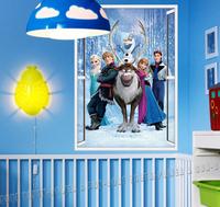 FROZEN 6 Figure Large size 48*68cm 3d window KIDS NURSERY WALL STICKERS DECALS Cartoons & Characters Girl's Dreamland