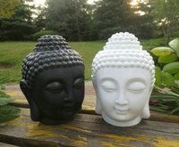 1pc/lot, white black India ceramic Buddha candle aromatherapy furnace  essential oil burner