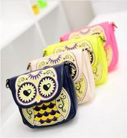 2014 NEW ARRIVAL Free Shipping Summer Cute Cartoon Owl Handbag Messenger Bag Shoulder Bag Casual Bag