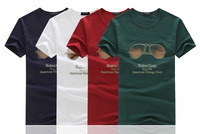 Glasses men hat 100% soft cotton summer men T shirt casual popular many styles!
