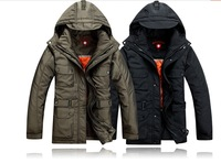 Free Shipping 2014  D 2 hotsale fashion Down coat Men's fur collar Winter Jacket ,parka Brand Down Jacket Men,