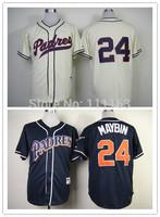 Baseball Jerseys-Padres Authentic 24 Cameron Maybin 1998 Turn Back The Clock Jersey,Navy blue size:48~56+Mix Order,Free Shipping