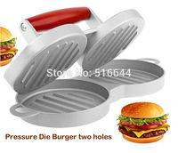 New! 2014 Aluminum Metal Double Hamburger and Patties Maker Burger Hamburger Press Cookware Kitchen Tool Free Shipping