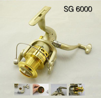 6BB Ball Bearings Left Right Hand Interchangeable Collapsible Handle Fishing Spinning Reel SG6000 5.1:1 For Outdoor Sports