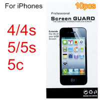 10pcs Screen protector protective film guard For iphone 4 4s 5 5s 5c mobile phone