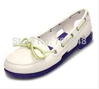Free shipping 2014 fashion footwear wholesale sandals  shoelaces  white eva sandals  Women Beach Line Boat Shoe w5-w9