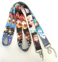 Cartoon Frozen Neck Lanyard KeyChain Frozen Anna Elsa Hans Key Chain Strap Cell Phone Chains ID Neck Strap Rings by DHL 200pcs/