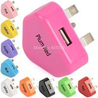 Full Colour Main USB Wall 3 Pin Power Plug Charger UK Adapter E1146 P
