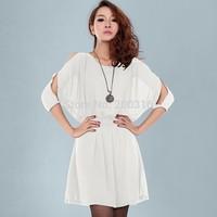 Korean Slim fashion sexy strapless corset relaxed temperament thin chiffon dress Free Ship Women Clothing