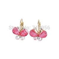 Fashion women jewelry cute elegant colorful resin wings butterfly drop earrings ER466