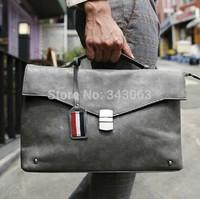 High quality brand men messenger bags briefcase portfolio genuine leather crazy horse danjue  laptop desigual videng  zefer