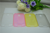 New arrival super thin 0.5mm colorful transparent TPU case for Samsung Galaxy S5 i9600  ,free shipping