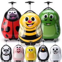 2014 Cute Kid trolley luggage travel bag cartoon backpack school bag bee backpack and trolley  luggage