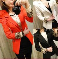 Blazer Women Jacket Women Coat Women Blazer Suit Foldable Brand Leopard Jackets Women Clothes One Button Shawl Cardigan Coat