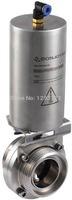 "3 "" SS 304 pneumatic  butterfly valve,clamp butterfly valve,Manual,Stainless steel butterfly valve,sanitary butterfly valve"