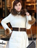 free shipping winter women coat 2014 new brand fashion jacket luxury overcoat warm thicken down-cotton parka  YJZ3
