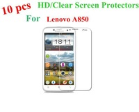 Freeshipping New High Quality 10 pcs/Lot HD Wearable Front Body Clear Screen Protector Protective Films For Lenovo A850 a850