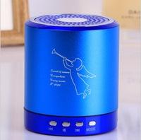 50pcs/lot portable with fm radio usb tf card slot high quality mini speaker