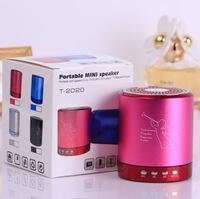 T-2020 Portable mini speaker support TF card U-disk FM radio mp3 player DHL  free shipping 100pcs/lot