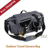 Caden L2 Shoulder SLR Camera Bag Thick Canvas Camera Bag Large Capacity Outdoor Travel Camera Bag