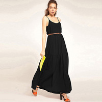 New Hot Selling Long chiffon Strap Dress Free Ship Women Clothing