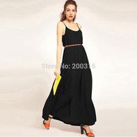 New Hot Selling Long chiffon Strap Dress Free Ship Women Clothing
