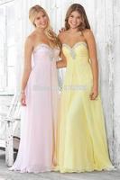 A Line Sweetheart Beaded Bridesmaid Dress Custom Made Prom Dresses 2014