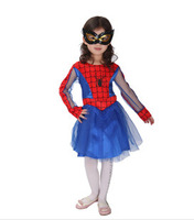 (Mix order 10% off) Halloween masquerade spider man girl costumes for child, Children's Day stage game show girl cosplay costume