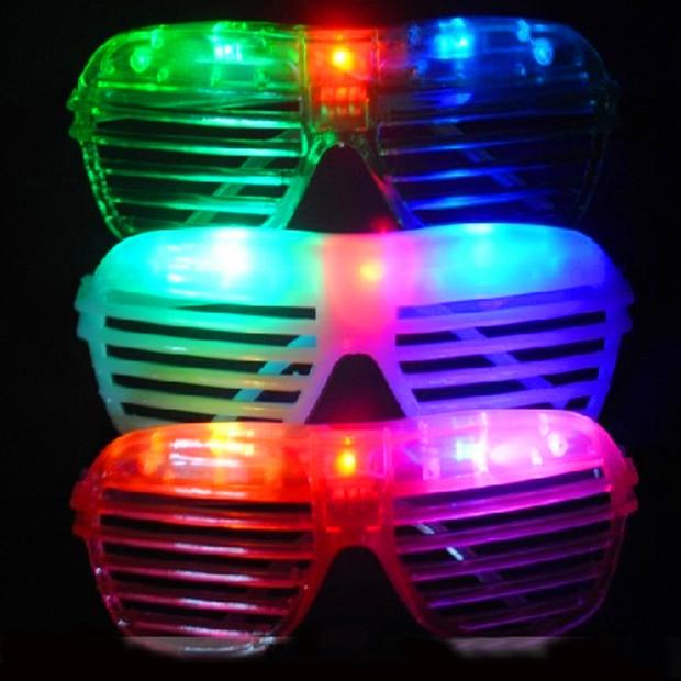 Glow party glasses 2015 new fashion light up flash LED glasses glowing classic toys decorative party mask 10pcs/lot(China (Mainland))