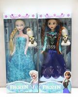 Frozen Figure Play Set Anna Elsa Olaf PVC 33cm High Action Figures Classic Toys Free Shipping 60pcs/lot