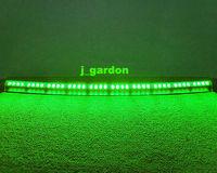 "car light source 40""40 LED 3 Watt Visor Interior Strobe Lights Emergency Light Lightbar Green car styling Light Bar"