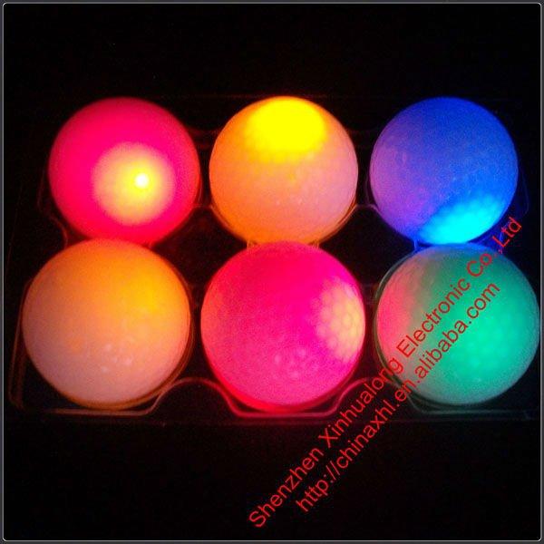 Golf Lovers Flashing Rubber LED Golf Ball(China (Mainland))