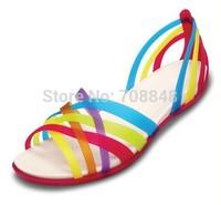 Free shipping 2014 fashion footwear wholesale sandals blue red  eva sandals  Women Women's Huarache Flat  2   color w5-w9